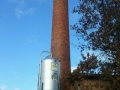 Grain silo and smoke stack