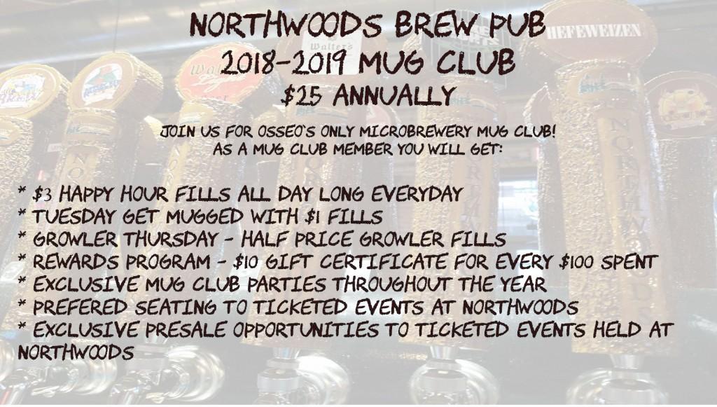 Nowrthwoods Brew Pub Mug Club Membership